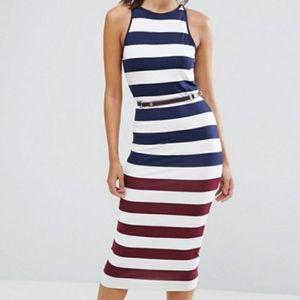 {Ted Baker} Yuni Rowing Stripe Dress w/ belt